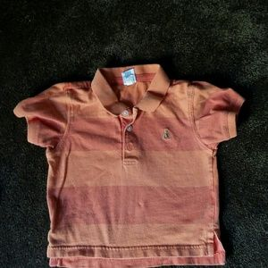 GAP Shirts & Tops - Baby Gap boys orange,stripe polo shirt. 2 years.
