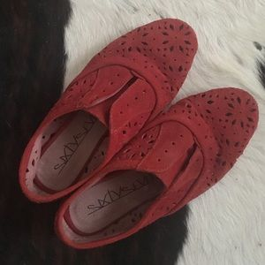Anthropologie Shoes - Anthropologie - Lacy Suede Oxfords