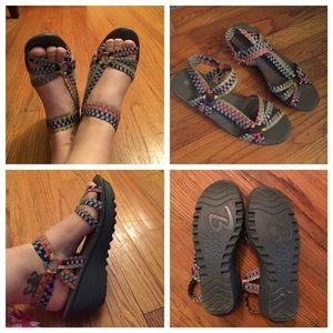 bernie mev. Shoes - Sparkly, colorful sandals