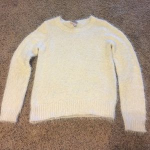 Forever 21 Sweaters - White fuzzy knit sweater