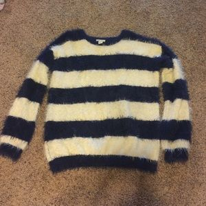 Forever 21 Sweaters - Blue and white striped knit sweater