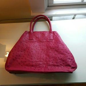 Akris Handbags - AKRIS pink dotted purse.