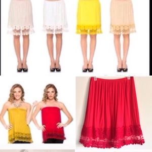 Red Lace Top/Dress Extender