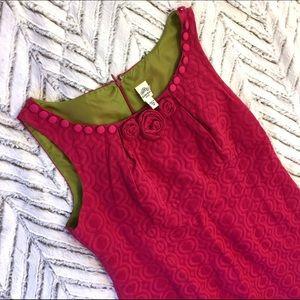 Sangria Dresses & Skirts - Sangria Petite Fuchsia Embellished Shift Dress