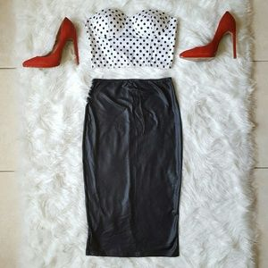 Dresses & Skirts - Faux Leather Pencil Skirt
