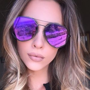 Black framed aviator sunglasses