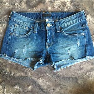 Bebe Destroyed Shorts
