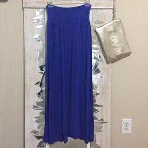 Small Blue Jersey Maxi Skirt