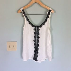aerie Tops - Black chantilly lace trimmed tank/camisole