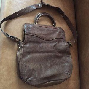 BCBGMaxAzria Handbags - BCBG Maxazria leather vintage style foldover bag