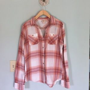 Tops - Lightweight plaid flannel