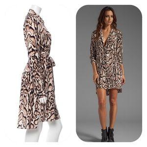 Diane von Furstenberg Dresses & Skirts - DVF Silk Prita Shirtdress in Leopard Bark
