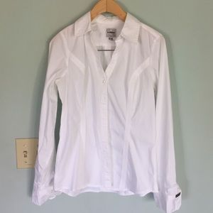 Express Tops - NWOT express white essential shirt