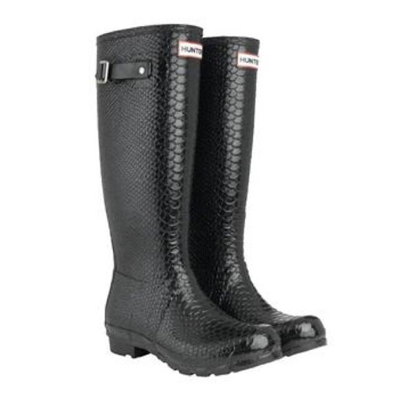 Boa Snakeskin Hunter Boots   Poshmark