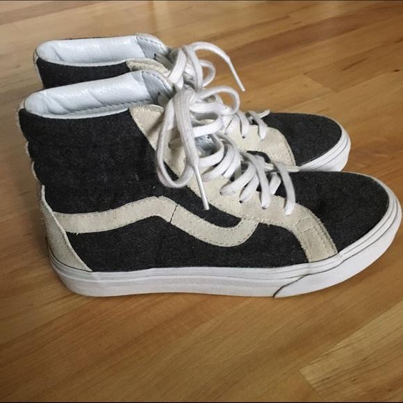 Vans Shoes - Vans®   Madewell Classic SK8-Hi High-Tops in Wool 6519429857