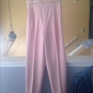 High waisted pants with belt (size 8-10)