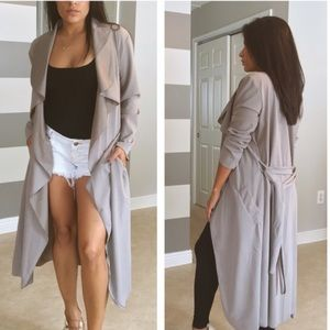 Jackets & Blazers - •LAST ONE• Mauve stone luxe duster
