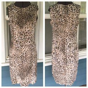 Spiegel Dresses & Skirts - SPIEGEL Leopard Sheath Dress