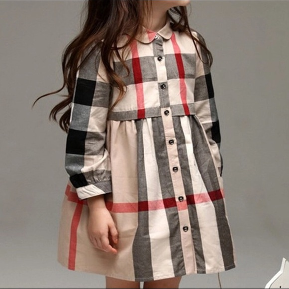 a2df2c6734ba Dresses | Girls Burberry Style Fall Fashion Checked Dress | Poshmark