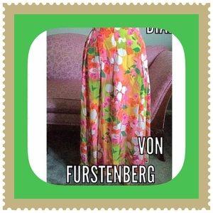HP VTG Silk Skirt / Diane Von Furstenberg