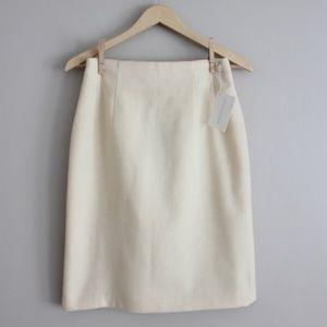 Vintage Dresses & Skirts - Vintage 1990's Cream Wool High Waist Pencil Skirt
