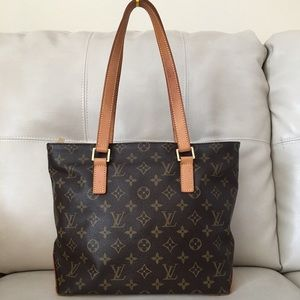 AUTH Louis Vuitton Monogram Cabas Piano Tote bag