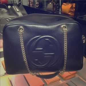 Gucci Soho Calfskin Large Chain Shoulder Bag