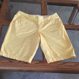 Merona yellow shorts