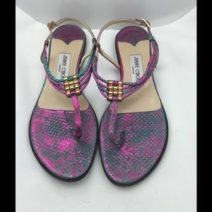 Authentic Jimmy Choo Snakeskin Sandals!