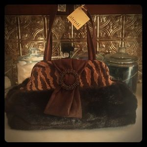 Handbags - Brand new purse. Antenti bag.  Faux fur mink.