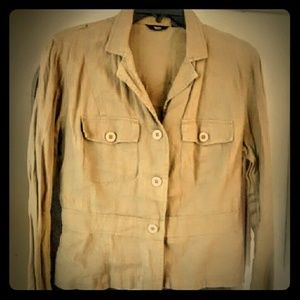 Mossimo Sz M Linen Blazer Jacket