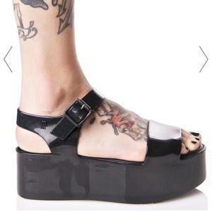 ef9ca21f4b Melissa Shoes   Mar Black Wedge Sandals   Poshmark