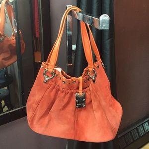 Sergio Rossi Handbags - AUTH Sergio Rossi suede hobo