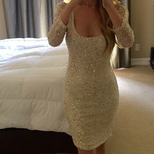 Arden b white long sleeve dress