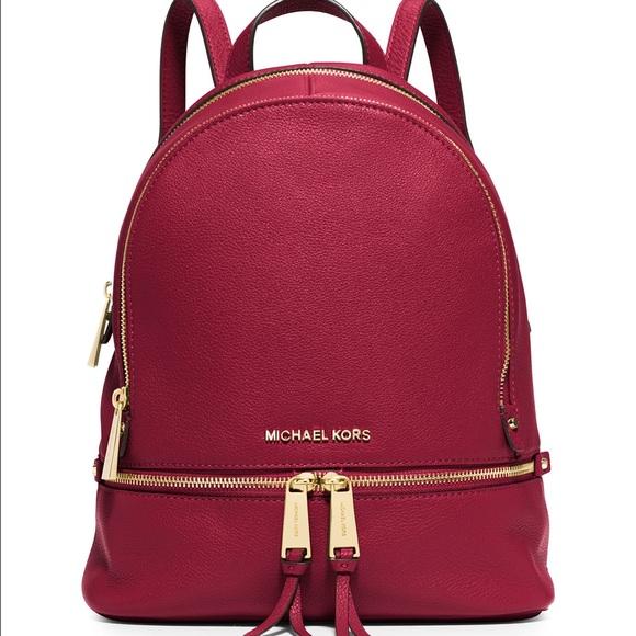 6cd81158036e MICHAEL Michael Kors Bags   Cherry Rhea Zip Backpack   Poshmark