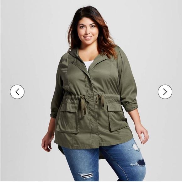 a39074a446e5e Ava   Viv Plus Size Lightweight Anorak Jacket