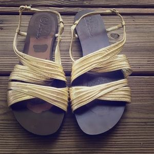NWOT gold COLE HAAN sandals