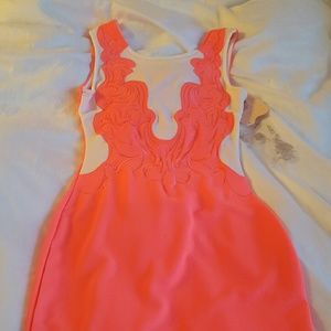 Hot pink fitted party dress BNWT us size 6 UK10