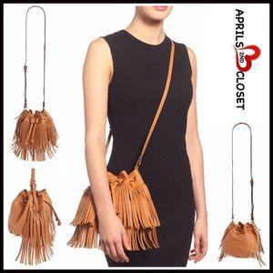 Boutique Handbags - ❗️1-HOUR SALE❗️Suede Fringe VEGAN LEATHER BAG