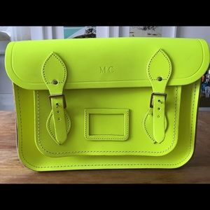 Cambridge Satchel Handbags - Authentic 13 inch Cambridge Satchel - Fluo Yellow