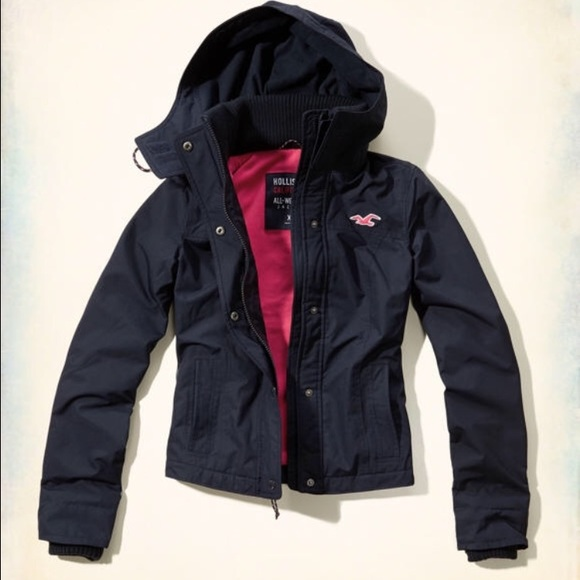 82% off Hollister Jackets & Blazers - Hollister All Weather Jacket ...