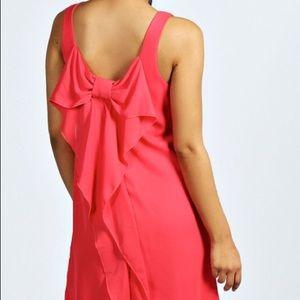 Pink bow tie dress NWT