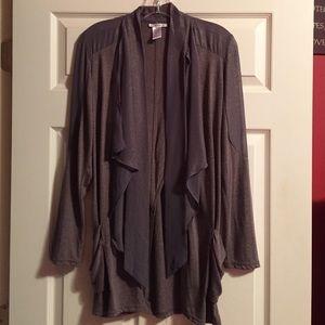 Gray shimmery esley cardigan