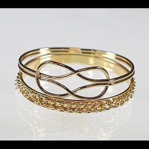 Bangle Bracelets Gold-Tone NWT