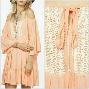 Peach Love California Dresses & Skirts - Peach Love cold shoulder tunic/dress