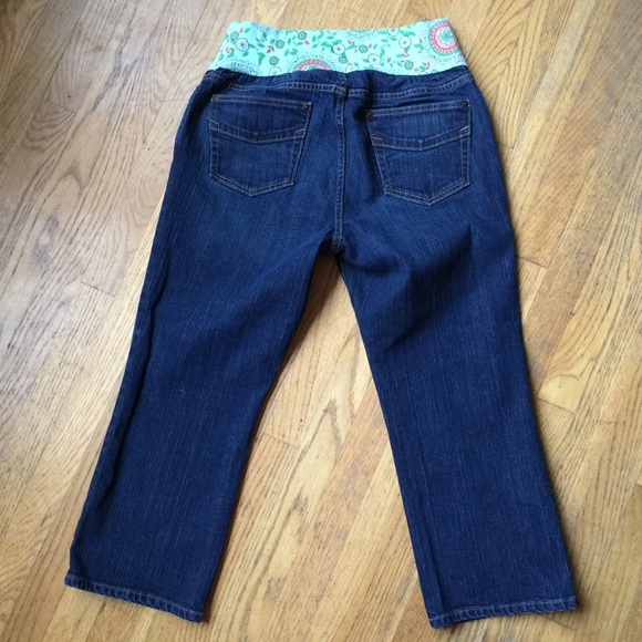 64% off GAP Pants - GAP Under the Belly Maternity Blue Jean Capris ...