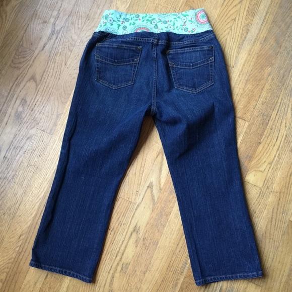 64% off GAP Pants - GAP Under the Belly Maternity Blue Jean Capris ...