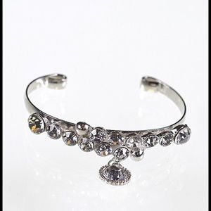 Rhinestone Bracelet Silver-tone  New