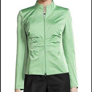 Lafayette 148 New York Jackets & Blazers - LaFayette 148 High Neck Ruched Jacket
