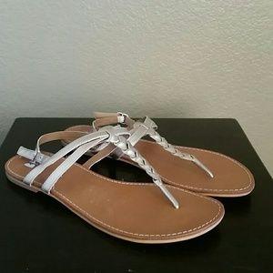 bp Shoes - EUC BP thong t strap sandals gold